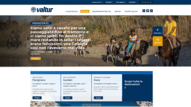 Valtur website